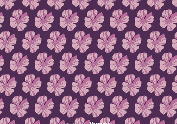 Purple Petunia Flowers Pattern Vector - vector gratuit #424227