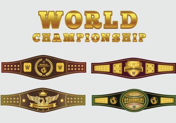 World Championship Belt Vector Pack - Free vector #424297