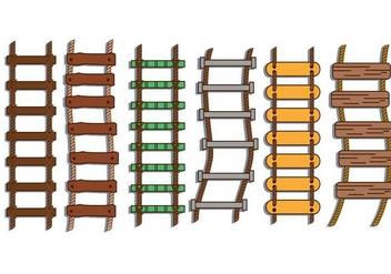 Rope ladder illustration vector set - Free vector #424357