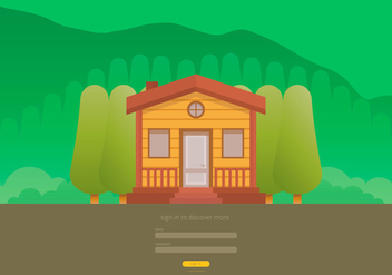 Forest Cabana UI Template - Free vector #424547