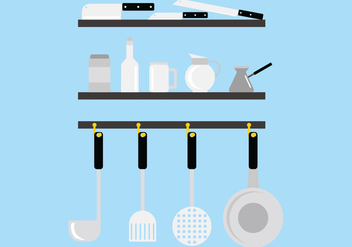 Stainless Steel Kitchen Tool Vectors - Free vector #424577