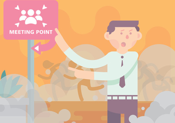 Disaster Meeting Point Vector - Free vector #424727