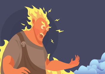 Angry Hades Vector - vector #424737 gratis