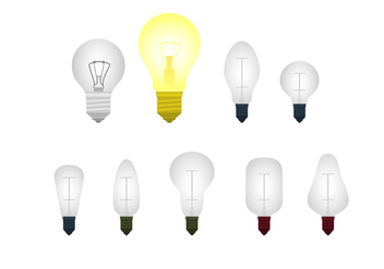 Light Bulb Ampoule Free Vector - бесплатный vector #424747