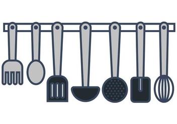 Cocina Utensils Vectors - Free vector #425217
