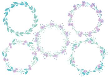 Vector Floral Wreaths - Free vector #425337