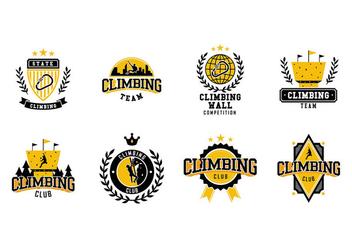 Climbing Wall Logo Vector - Free vector #425347