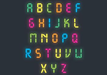 Bright Neon Letter Vector Pack - Kostenloses vector #425477