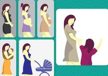 Maternity Mom Stage Vector - Free vector #425707
