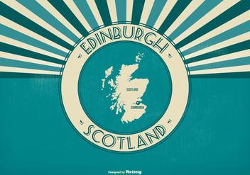 Edinburgh Scotland Retro Illustration - vector #425837 gratis