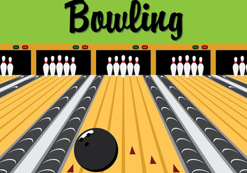 Retro Bowling Lane Vector - бесплатный vector #425917