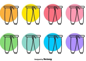 Sweat Pants Vector Line Icons - Free vector #425927