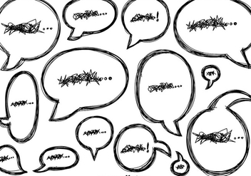Vector Doodle Speech Bubbles Icons - Free vector #425967