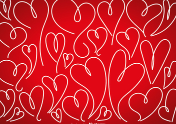 Vector Set Of Doodle Hearts - Free vector #425977