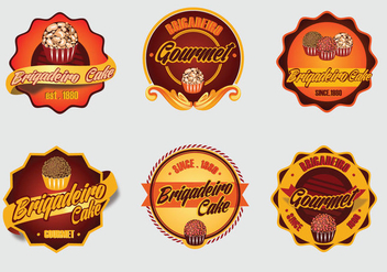 Brigadier dessert cake vector label logo - бесплатный vector #426057