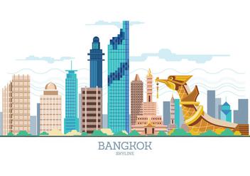 Bangkok Skyline Vector - vector gratuit #426197