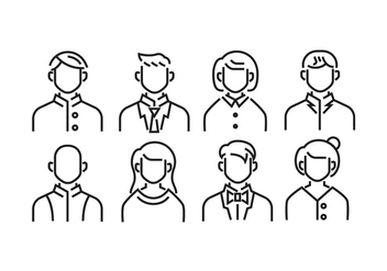 Default Avatar Headshot Icons - Free vector #426207