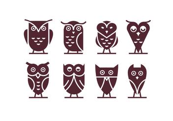 Owl Logo Vectors - Free vector #426297