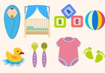 Flat Baby Essential Vectors - Kostenloses vector #426307