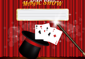 Magic Show Template Vector - Free vector #426397