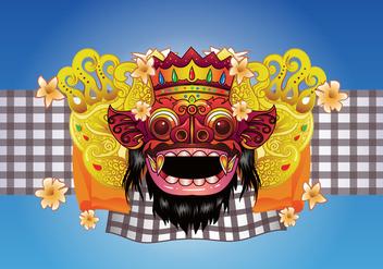 Barong Bali Vector Background - бесплатный vector #426487