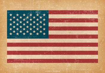 American Flag On Grunge Background - Free vector #426547