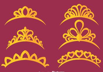 Princess Crown Vectors - бесплатный vector #426577