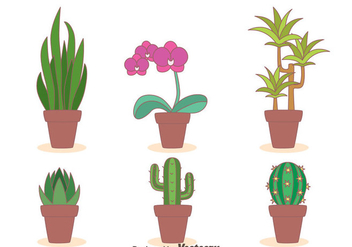 Houseplant Collection Vector - Free vector #426587