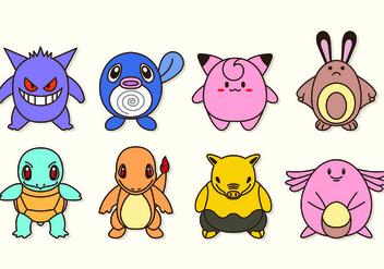 Set Icon Characters Of Pokemon - Kostenloses vector #426637