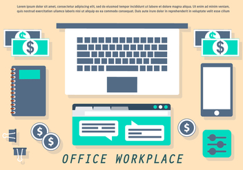 Free Office Workplace Vector Illustration - Free vector #426737