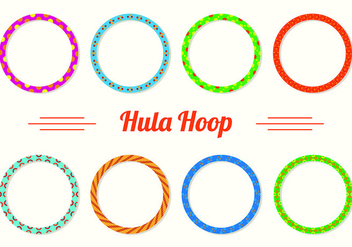 Set Of Hula Hoop icons - Free vector #426867