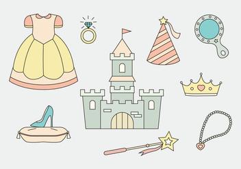 Princess Icons Vector - Kostenloses vector #427057