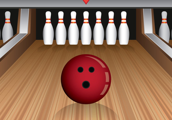 Bowling Lane Vector Illustration - бесплатный vector #427207
