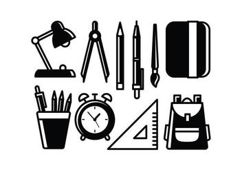 Free School Supplies Vectors - Free vector #427337