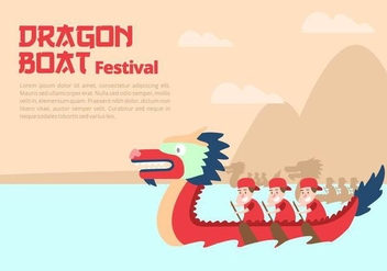 Dragon Boat Festival Background - vector gratuit #427447