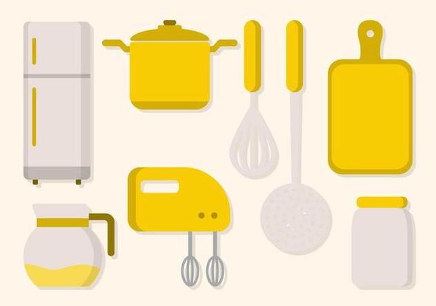 Flat Kitchen Utensil Vector - vector gratuit #427687