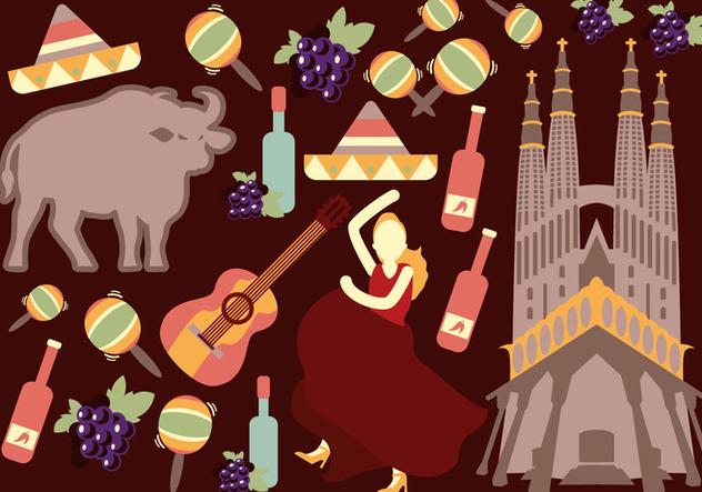 Spain Travel & Culture Vectors - vector gratuit #427697