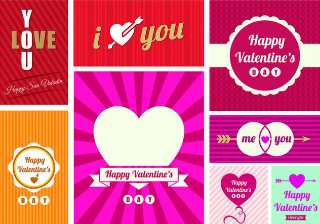 San Valentin Day Greeting Card Vectors - vector gratuit #427727