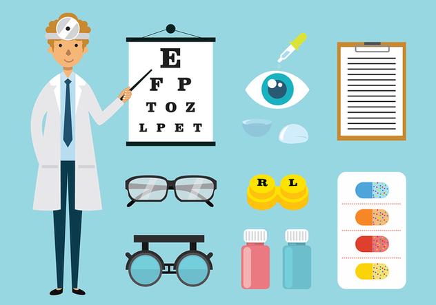 Eye Doctor and Toosl Vectors - vector gratuit #427777