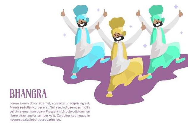 Bhangra Background - vector gratuit #427797