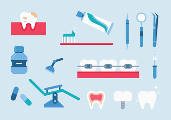 Dentista Icons - vector gratuit #427817
