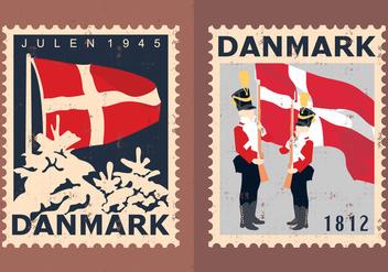 Denmark Travel Stamps - vector #428107 gratis