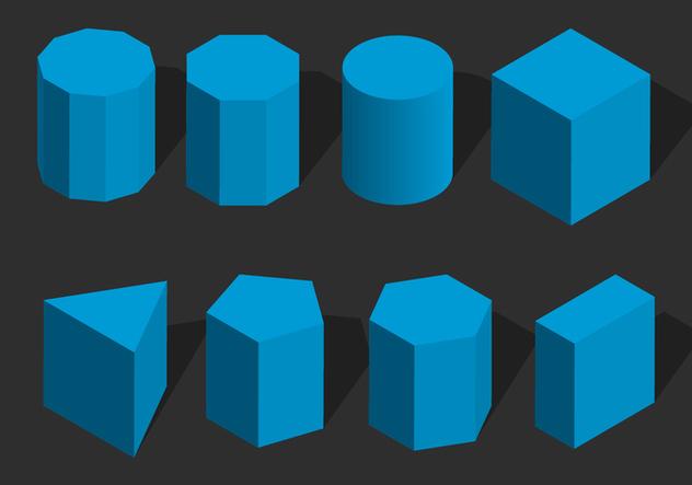 Isometric Geometris Shape Vector - бесплатный vector #428237