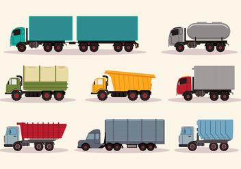 Work Trucks Vector - Free vector #428287