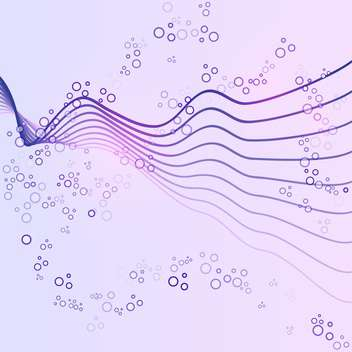 Vector illustration of abstract colorful vector background with lines and circles on purple background - Free vector #125747