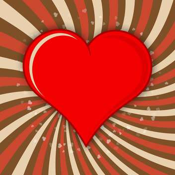 Vector illustration of valentine background with red heart - vector gratuit #125817