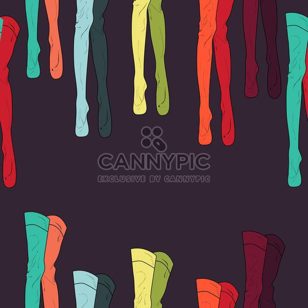 vector illustration with colorful tights on dark background - Free vector #126117