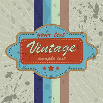 Vector illustration of vintage colorful background with stripes and text place - Free vector #126287