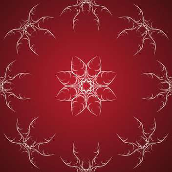 Vector red background with white floral ornate - Free vector #126297