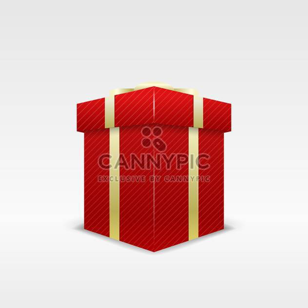 holiday background with red birthday gift box on white background - Free vector #126377